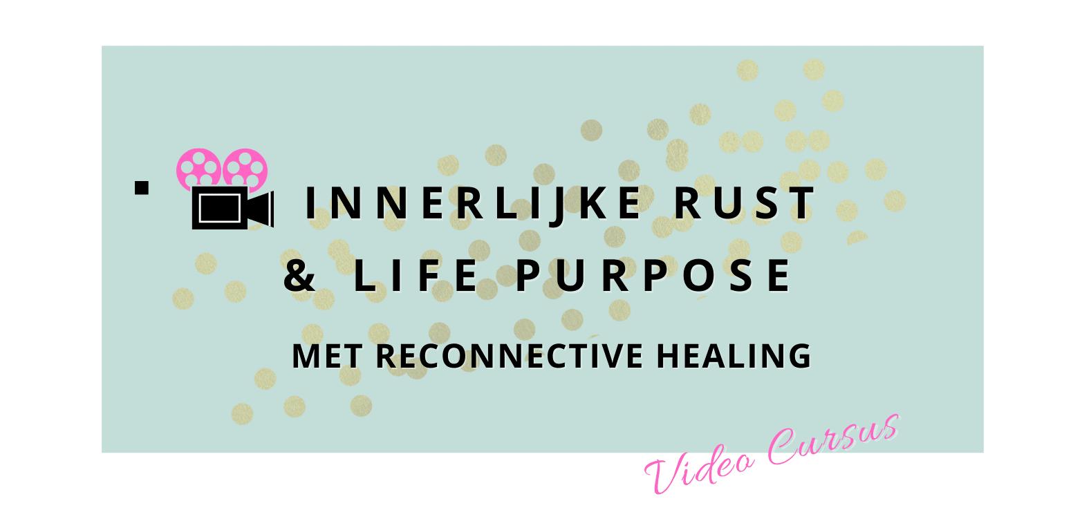 Logo gratis online video cursus Meer innerlijke rust en life purpose in je leven met Reconnective Healing